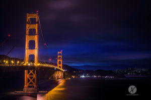 Golden Gate Bridge, Night, San Francisco, Framed Art, Fine Art Prints, Home, Office, Professional Photography