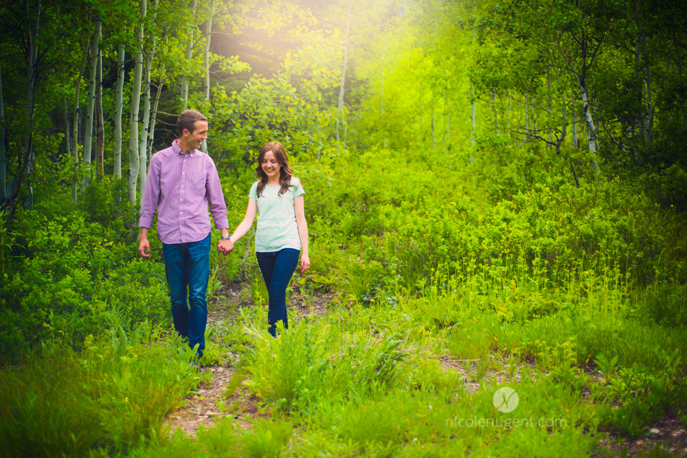 Engagement, Provo Utah, PortraitPhotographer, Dreamy, Soft, Vibrant, Colors, Green, Summer