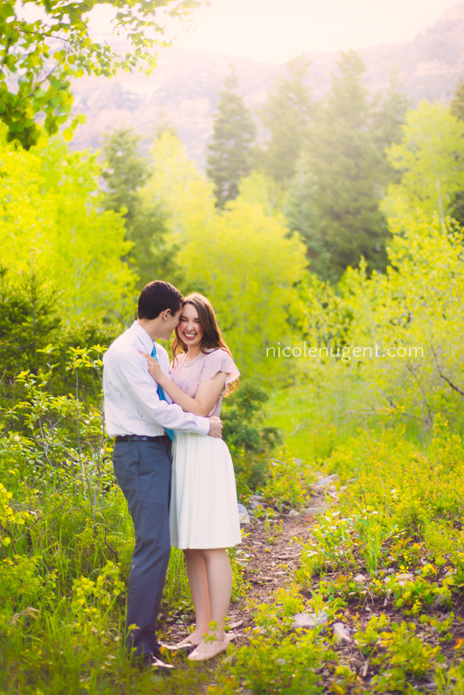 UtahEngagement, Photographer, Couples, AspenGrove, VividColors, Trees-Green,