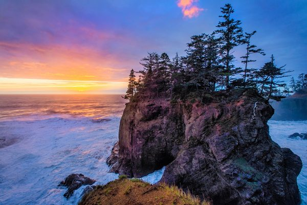 Oregon Coast, Beach, Sunset, Natural Bridges, Framed Art, Fine Art Prints, Home, Office, Professional Photography