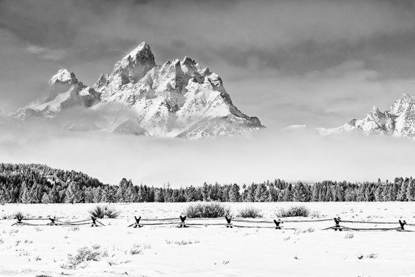 Winter Mountain, Snowy, Black and White, Framed Art, Fine Art Prints, Home, Office, Professional Photography